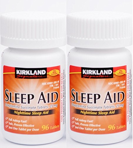 Kirkland Sleep Aid (Doxylamine succinate) 25 mg 192 Tablets - Brand New Sealed