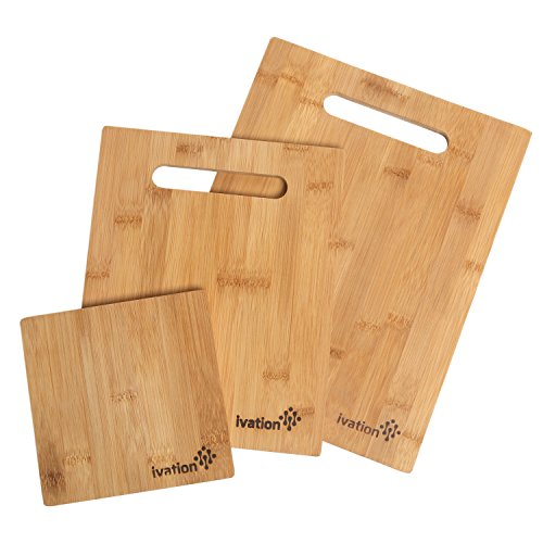Ivation Bamboo Cutting Board Medium
