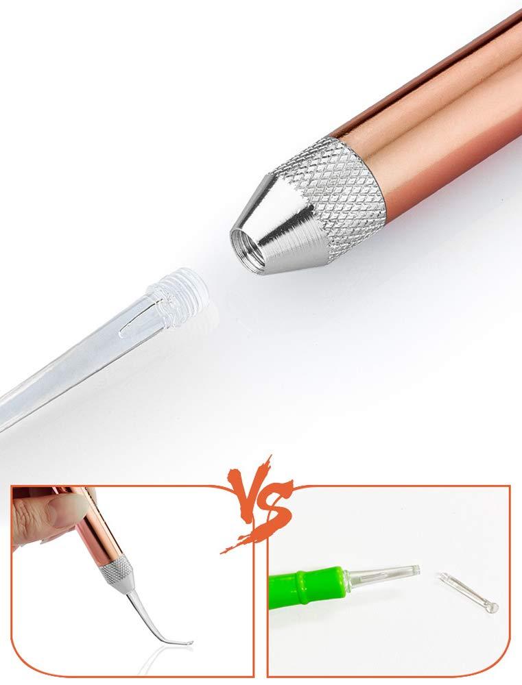 Beleuchten LED Ohrenreiniger-Set Ohrl/öffel Ohrenschmalzentfernung Reinigung Ohrreiniger mit Aufbewahrungskiste Silikon Material Sicher und ungiftig 3 S/ätze Ohrl/öffel