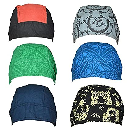 8a10d03d4d6 Cotton Bandanas   Dew Rag   Skull Cap   Cycling Cap  Beanie  Adjustable Hat