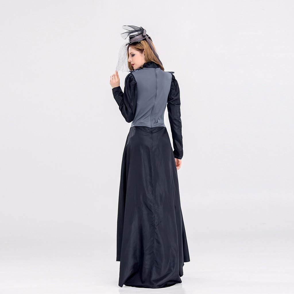 Amazon.com: Aneinei Halloween Witch Cosplay Costume Vintage ...