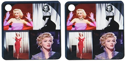 3dRose Marilyn Monroe Collage – Key Chains, 2.25 x 4.5 inches, set of 2 (kc_107180_1)