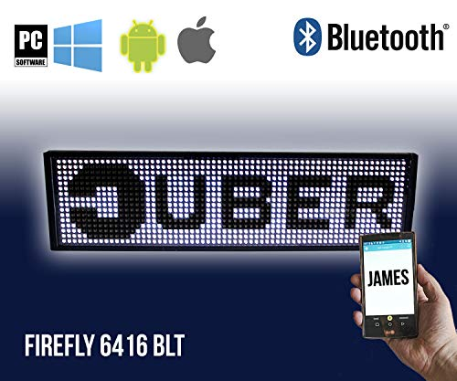 UBER and LYFT Sign Bluetooth Black Edition (Car Visor -