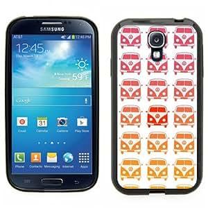Samsung Galaxy S4 SIIII Black Rubber Silicone Case - VW Bus, Volkswagen, Bay window, split window design wangjiang maoyi