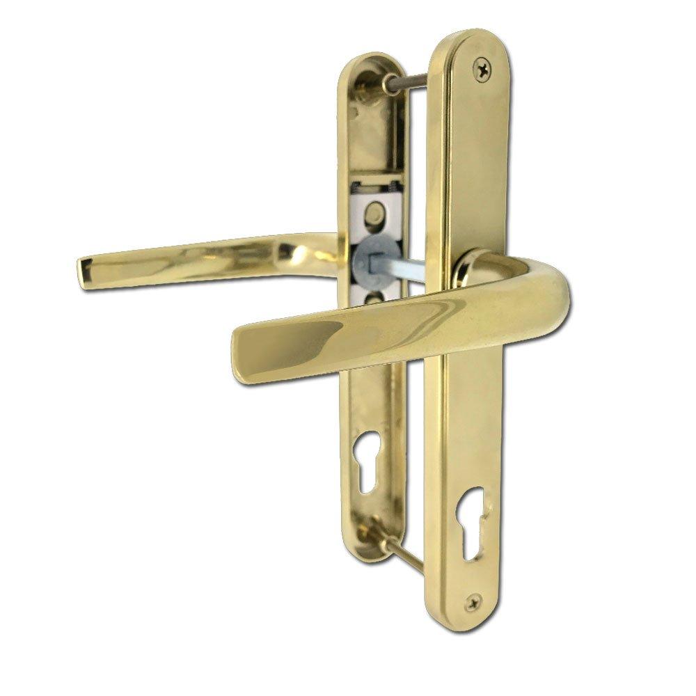 UPVC Door Handles - Lever Lever - 210mm Screws - PVD Gold Hoppe