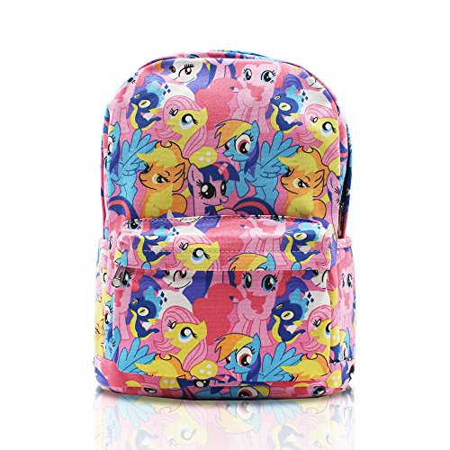 Finex Pink My Little Pony Canvas Backpack with Laptop storage compartment for School College Daypack Causal Travel Bag