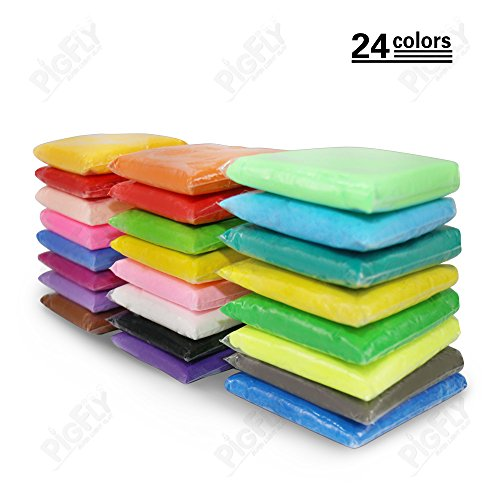 PF Ultralight Plasticine Modeling Clay Artist Studio Toy 24 color Clay Set