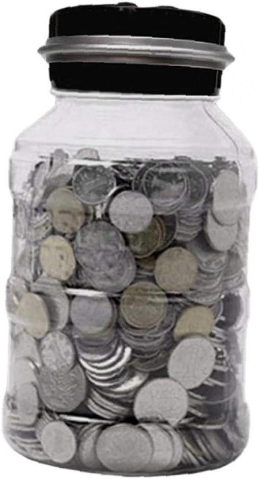 Ruluti 2.5l Tirelire /éLectronique De Comptage De Monnaie Comptage LCD Num/éRique Coin Money Saving Bo/îTe Jar Pi/èCes Bo/îTe De Rangement pour Usd Euro Argent Couleur Al/éAtoire