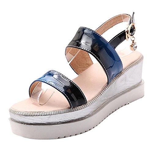 Women Sandals Platform Blue JOJONUNU Comfort xvq4H4nw