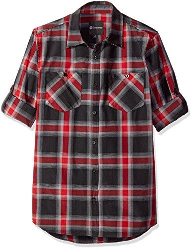 Akademiks Men's Big and Tall Broome Woven Shirt, Black, - Shops Broome