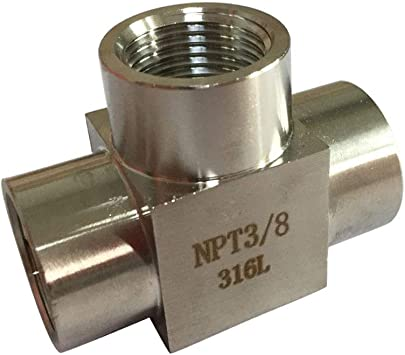 "High Pressure Fittings 1//8/"" Female Pipe Tee 5000 psi"