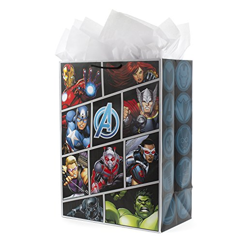 Hallmark Oversized Avengers Gift Bag with Tissue Paper