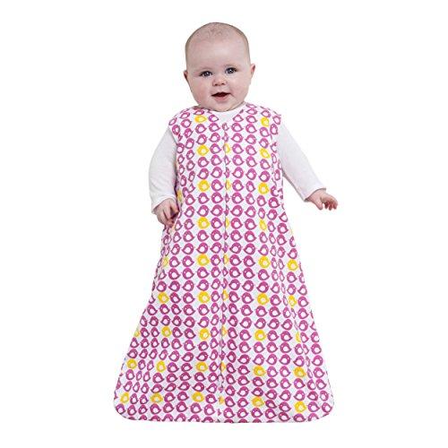 Halo Sleepsack 100% Cotton Wearable Blanket, Bright Pink Bird, Small