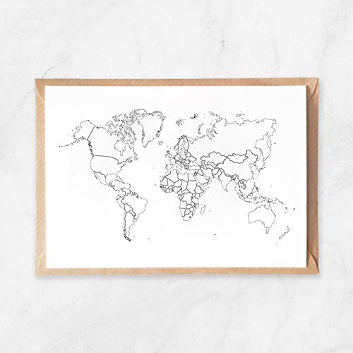 Amazon.com: 5pcs, Plain Outlines World Map Postcard, Travel Map to on colored map of world, white map of world, labeled map of the world, tropical climate map of world, religion map of world, clear map of world, physical map of the world, river map of world, desert map of world, plain world map printable, mountain map of world, continent map of world, simple map of world, flat map of the world, plain world map with countries, rainfall map of world, united states map of world, political map of world, light map of world, plains of the world,
