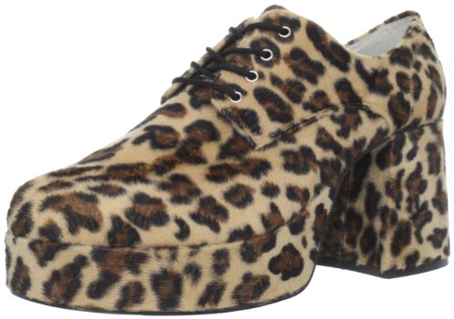 Funtasma by Pleaser Men's Jazz-02 Platform Oxford,Medium,Cheetah Fur
