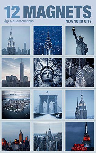 Set of 12 New York Fridge Photo Magnets in Elegant Packaging.12S-2. Made in USA (York New Magnet Refrigerator)