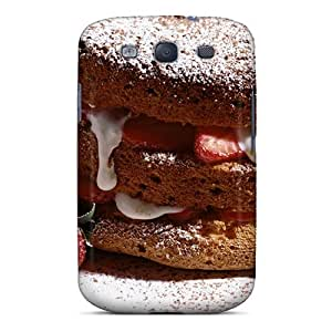 Amanda Diary Case Cover For Galaxy S3 - Retailer Packaging Strawberry Cake Protective Case