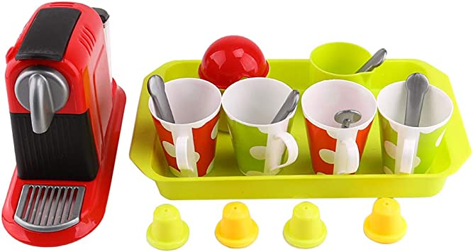 Amazon.es: B Blesiya Kits de Juguete de Cafetera con Tazas de Café ...