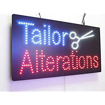 Amazon Com Tailor Alterations Sign Super Bright High