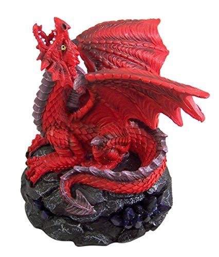 Red Dragon Incense - Red Dragon Figurine Incense Cone Burner
