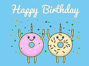 Amazon.com: Happy Birthday Donut Emoji Card Icon Vinyl ...