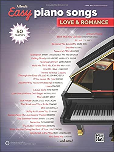 Alfred's Easy Piano Songs - Love and Romance: 50 Classics