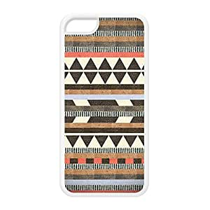 Diy iphone 5 5s case Aztec 6 White Silicon Rubber Case for iPhone 5 5S by DevilleArt + FREE Crystal Clear Screen Protector