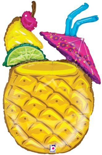 Tropical Drink Large Mylar Balloon product image