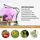Plant Grow Light, Full Spectrum Dual-Head 60 LED