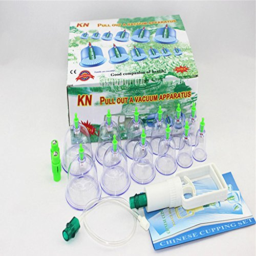 12-Cup Biomagnetic Chinese Cupping Therapy Set