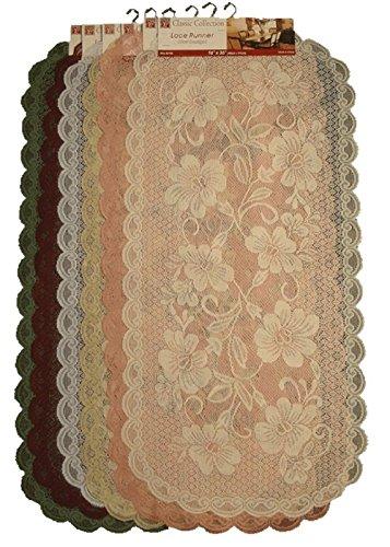 Motif Designer Scarf - Classic Collection Designer Floral Motif Lace Doily Table Runner Dresser Scarf 1-16
