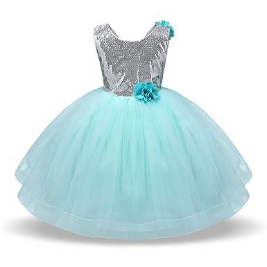 b02312e2c13 Robe Fille Princesse Paillette Robe De Soiree Fille Chic Tutu Pettiskirt  Floral De Danse Performance pour