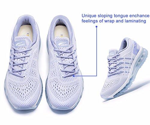 Onemix Scarpe Da Corsa Da Donna, Design Linguetta In Bianco