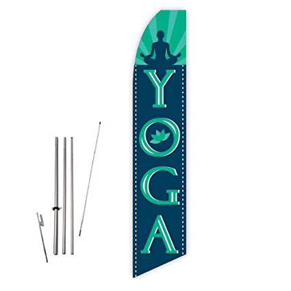 Amazon.com : Yoga (Green) Super Novo Feather Flag - Complete ...
