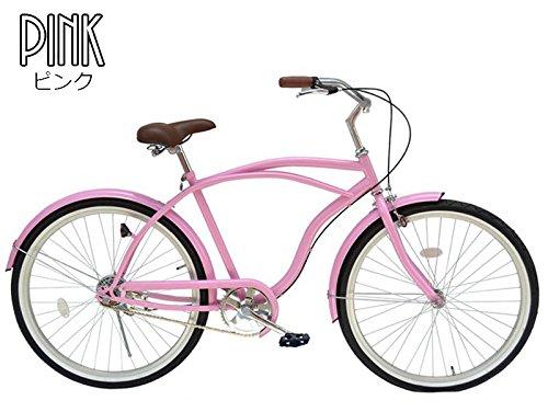 21Technology 26インチ ビーチクルーザー 自転車 B00KS06LFKピンク