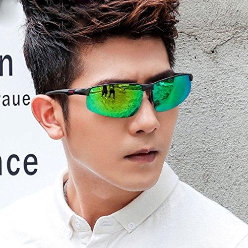 Lunetterie Hommes pour Black Soleil Lunettes Lunettes de Green Soleil Hommes Color Polarisées Personnalisées Soleil de pour de Hommes Lunettes Sunglasses Lunettes YaNanHome pour Men's vBPttw