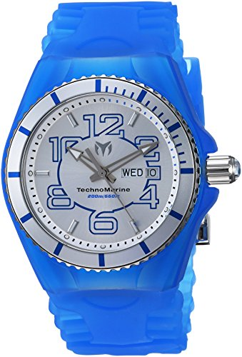 Technomarine Men's 'Cruise' Quartz Stainless Steel and Silicone Casual Watch, Color:Blue (Model: TM-115140)