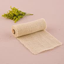 Narrow Burlap Wrap By The Roll in Ivory