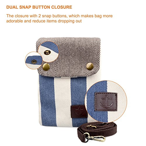 WITERY - Borsa a tracolla donna Blue-single shoulder strap