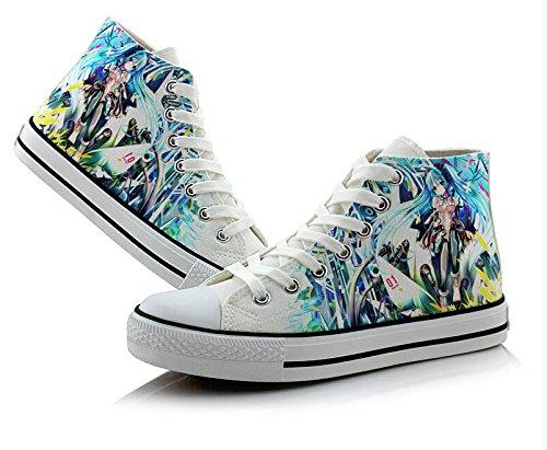 Zapatos De Lona De Miku Zapatillas De Deporte De Colores 5