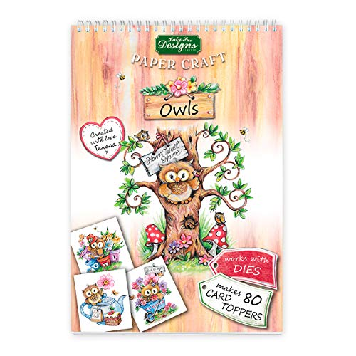 (Owls Paper Craft Pads, Card Making Kit, Makes 80 Card Toppers, Works with Dies by Teresa Goodridge)