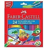 Lápis de Cor Aquarelavel Caixa com 24 unidades - Faber Castell