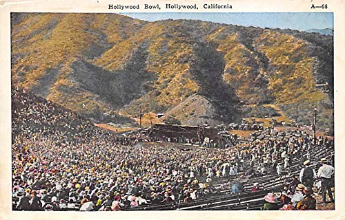 Hollywood Bowl, Hollywood, California, USA Base Ball Stadium, Post Card Hollywood Bowl, Hollywood, CA, USA ()