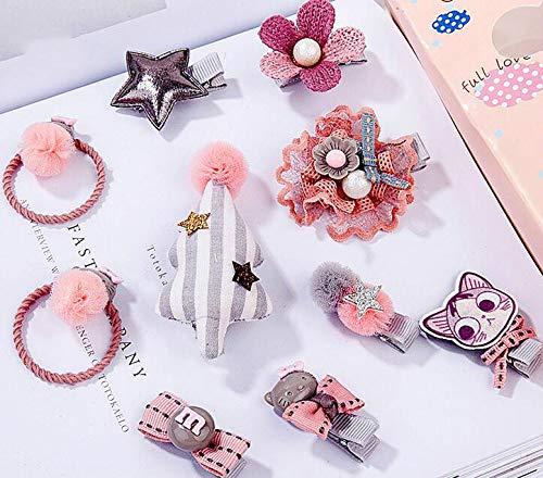 Royarebar Diverse Styles Hair Decorations Girls Hair Accessories Cartoon Hair Clips Child Barrettes Princess Hairpins Set (Pink+Gray) by Royarebar