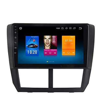 Dasaita Android 9.0 Car Stereo for Subaru Forester Stereo 2008 2009 2010 2011 2012 Head Unit in-Dash Octa Core 4GB RAM 32GB GPS Navigation (Free 8G Card&Update): Car Electronics