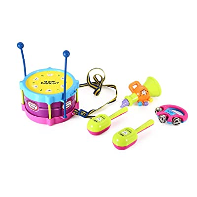 1997LM 5Pcs Kid Musical Instruments Jazz Drums Set Baby Enlightenment Educational Toy: Hogar