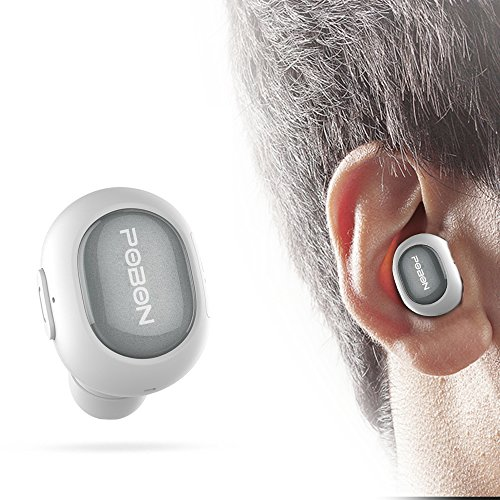 Stoon Bluetooth Headphones Q26 Mini Invisible Earbud Wireless Bluetooth Car Headset Earphone with Mic Single Earpiece Hands-free Stereo Noise Canceling for iPhone Samsung LG HTC Motorola iPad (White) (Motorola In Ear Earphones)