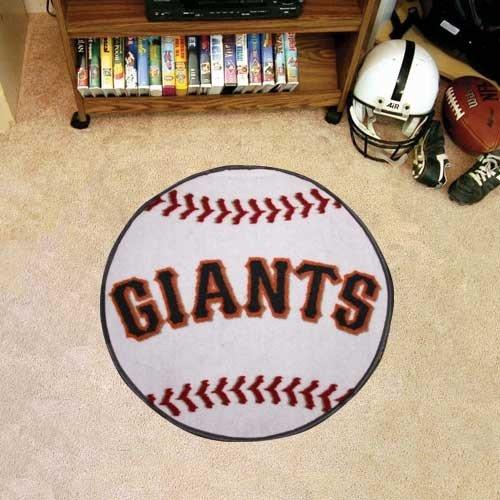 MLB San Francisco Giants White Round Baseball Mat