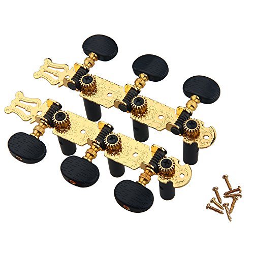 Kmise MI0084 3 x 3 Golded Plated Classical Guitar Tuning Peg Machine Head Keys