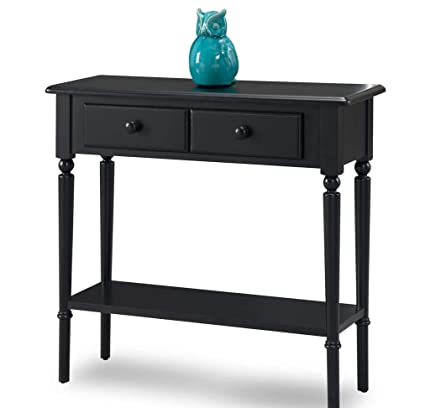 Astounding Amazon Com Ph 1 Piece 30 Inch Swan Black Accent Table Onthecornerstone Fun Painted Chair Ideas Images Onthecornerstoneorg